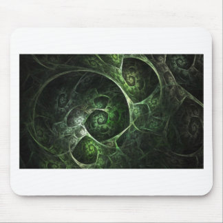 Abstract Snake Skin Green Mouse Pad