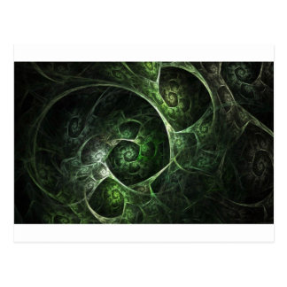 Abstract Snake Skin Green Postcard