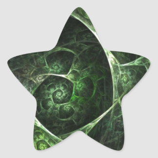 Abstract Snake Skin Green Star Sticker
