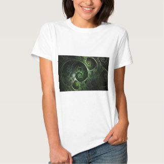 Abstract Snake Skin Green Tee Shirt