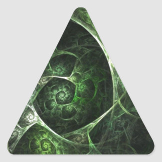 Abstract Snake Skin Green Triangle Sticker
