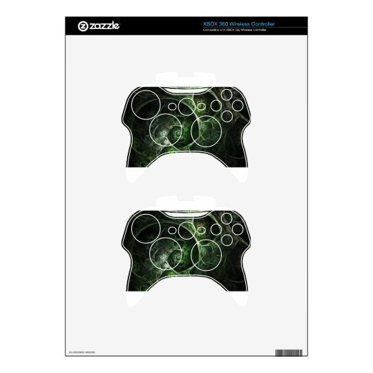 Abstract Snake Skin Green Xbox 360 Controller Skin