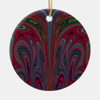 Abstract Snakehead Design Ceramic Ornament
