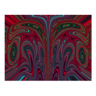 Abstract Snakehead Design Postcard