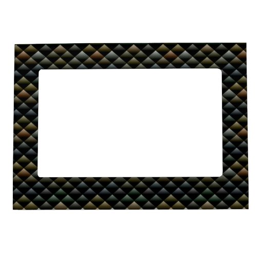 Abstract Snakeskin Pattern Magnetic Photo Frames