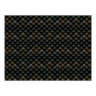 Abstract Snakeskin Pattern Poster