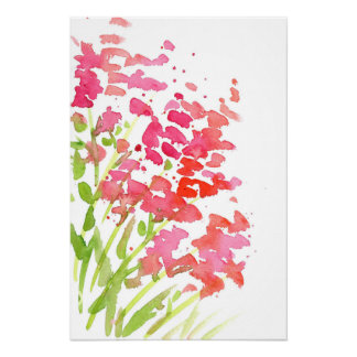 Abstract Snapdragons Poster