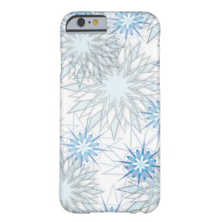 Abstract Snowflake Blue and White iPhone 6 case