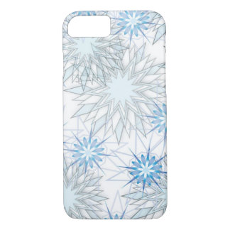 Abstract Snowflake Blue and White iPhone 7 case
