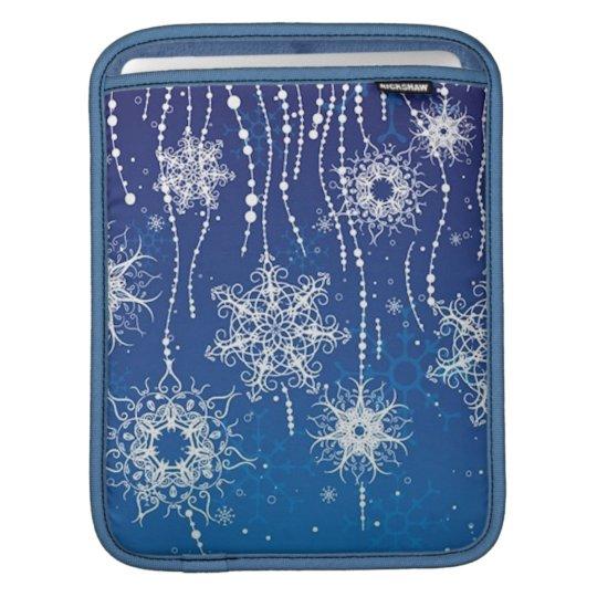 Abstract Snowflakes iPad Sleeve