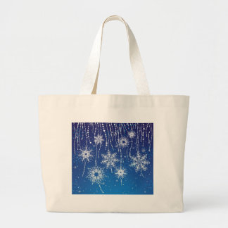 Abstract Snowflakes Large Tote Bag