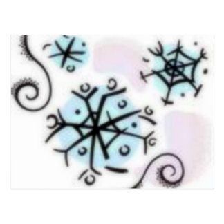 Abstract Snowflakes Post Cards