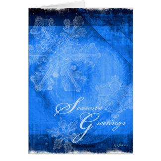 """Abstract Snowflakes - """"Season""""s Greetings"""" Card"""