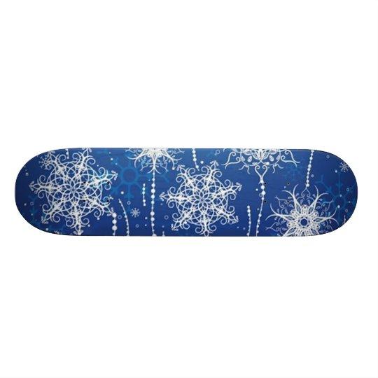 Abstract Snowflakes Skateboard