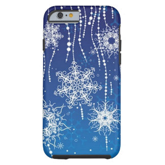 Abstract Snowflakes Tough iPhone 6 Case
