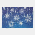 Abstract Snowflakes Towel