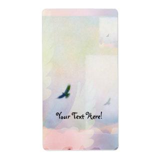 Abstract Soaring Hawk Label