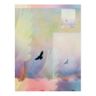 Abstract Soaring Hawk Postcard