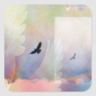 Abstract Soaring Hawks Stickers
