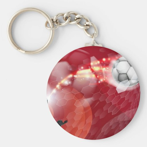 Abstract Soccer Sport Background Key Chain