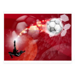 Abstract Soccer Sport Background Postcard