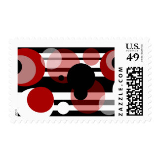 Abstract Soda pop bubbles Postage Stamp