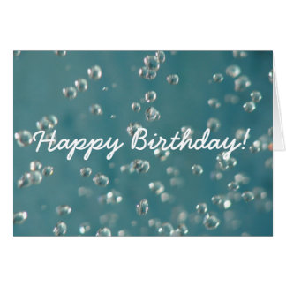 Abstract Soft Focus Water Drops, Happy Birthday! Card