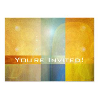 Abstract Solar Giftwrap Invitation