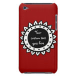 Abstract Solid Red Color Barely There iPod Covers