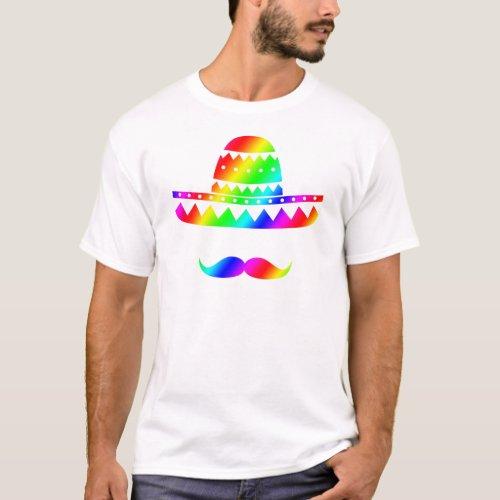 Abstract Sombrero Design T_Shirt