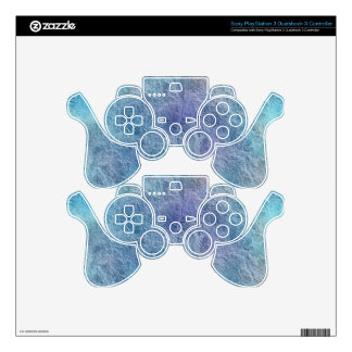 Abstract Soothing Cool Blue Colors Sony Skin PS3 Controller Skin