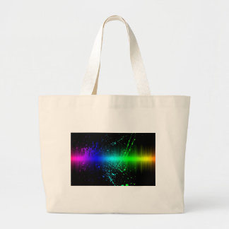 Abstract Sound Waves In Motion Tote Bags