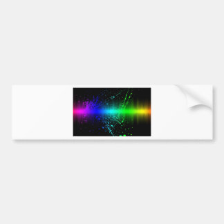 Abstract Sound Waves In Motion Bumper Sticker