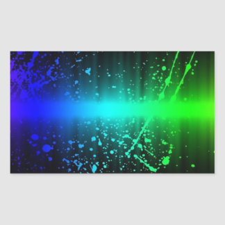 Abstract Sound Waves In Motion Rectangular Sticker