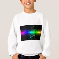 Abstract Sound Waves In Motion Sweatshirt