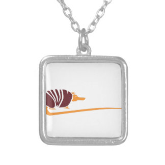 Abstract Southwestern Armadillo Silver Plated Necklace
