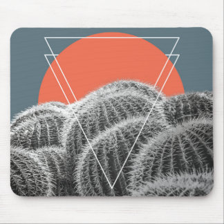 Abstract Southwestern Barrel Cacti   Mouse Pad