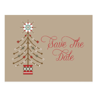 Christmas Wedding Save The Dates Postcards | Zazzle
