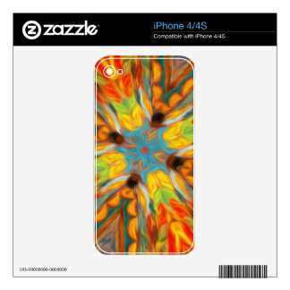 Abstract Southwestern Design Decals For The iPhone 4
