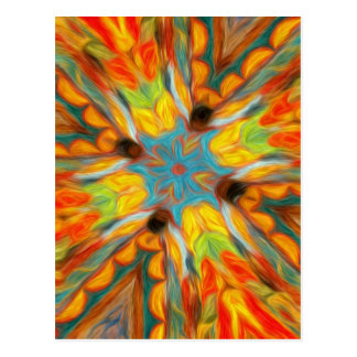 Abstract Southwestern Design Postcard