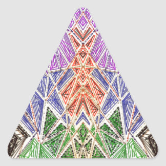 Abstract spacecraft-looking art. triangle sticker
