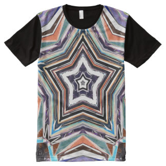 Abstract Spectral Star All-Over-Print T-Shirt