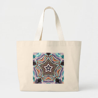 Abstract Spectral Star Large Tote Bag