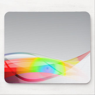 Abstract Spectral Wave Background Mouse Pad