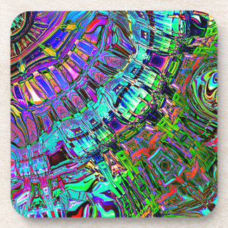 Abstract Spectrum of Shapes Beverage Coaster