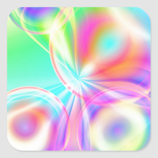 Abstract sphere pastell created by Tutti Square Sticker
