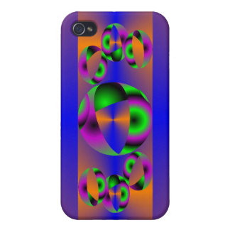 Abstract Spheres Case For iPhone 4