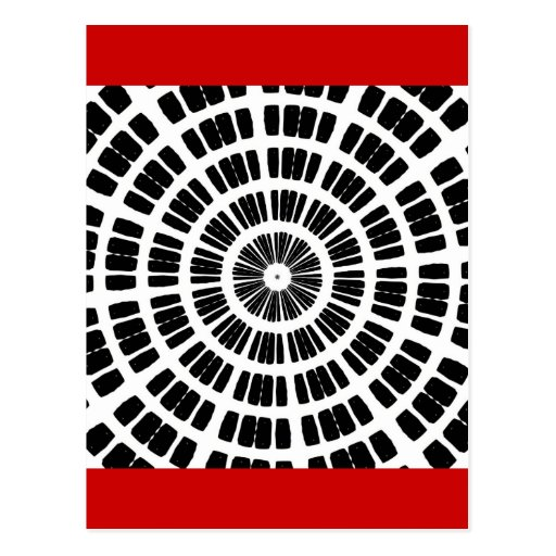 abstract spider web concentric pattern postcard