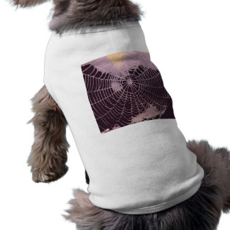 Abstract Spider  Web Dog Tshirt