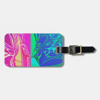 Abstract Spider Web Luggage Tag